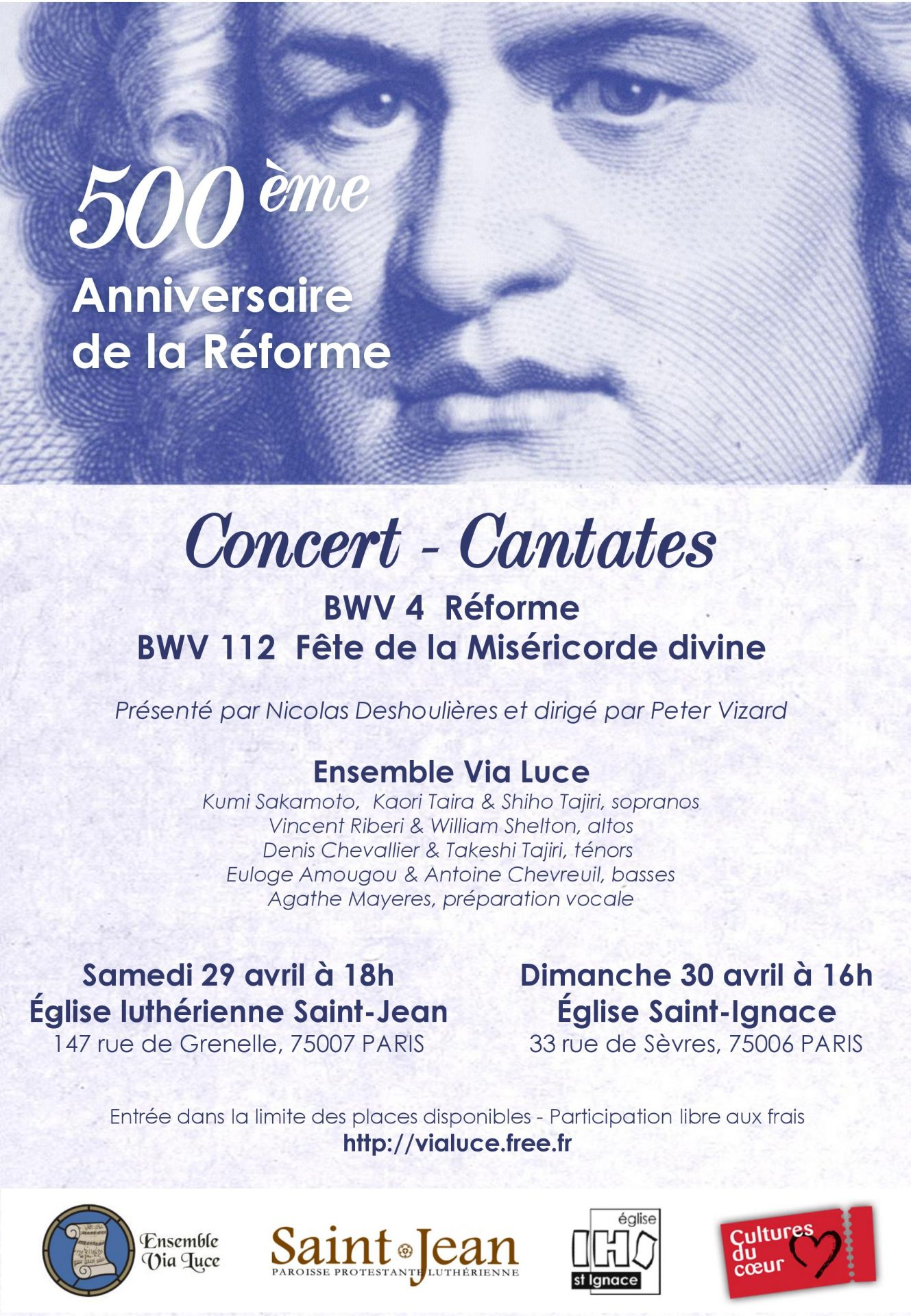 Concert Via Luce Saint-Jean 29 avril 2017