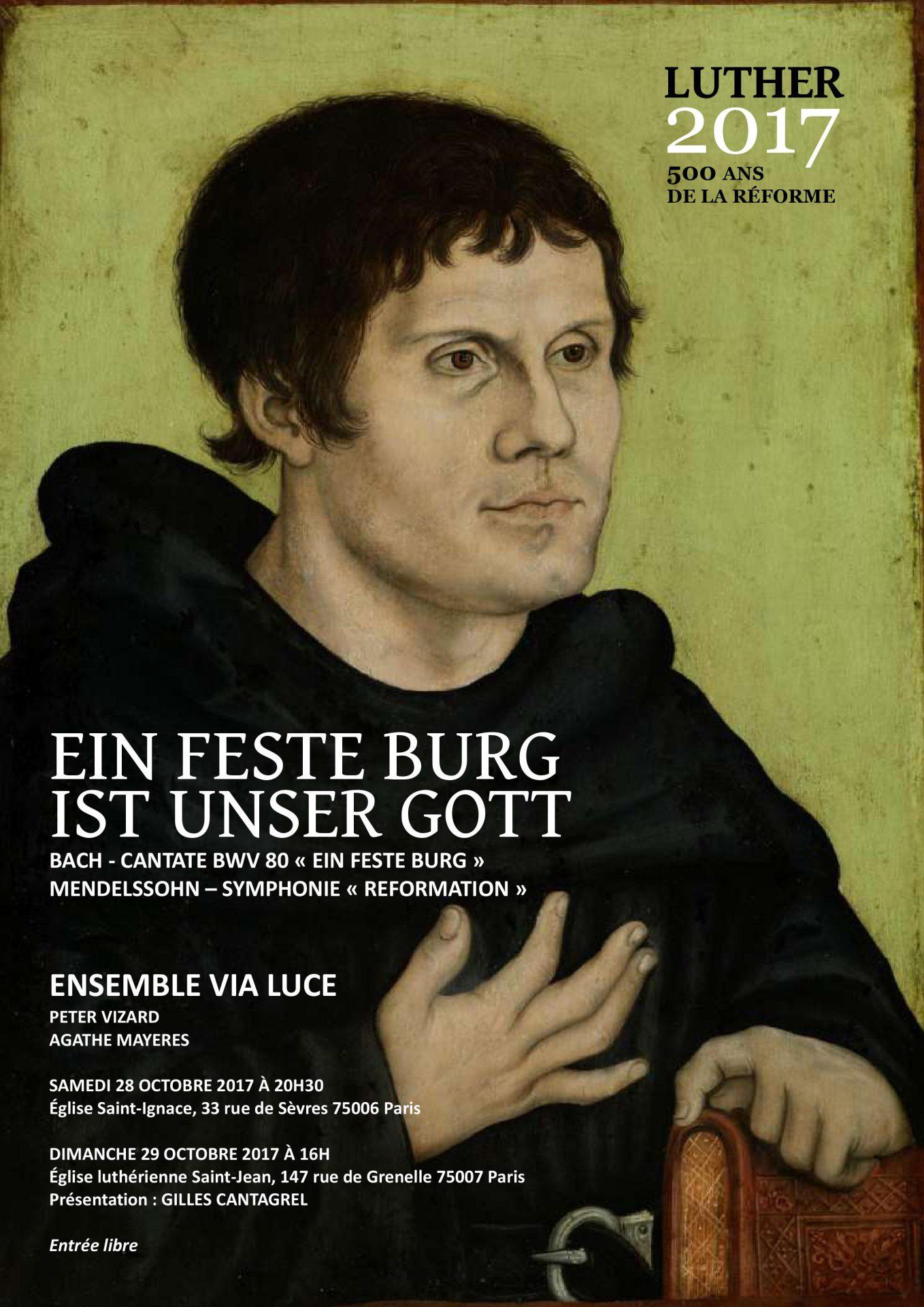 Affiche concert Via Luce 29 octobre 2017