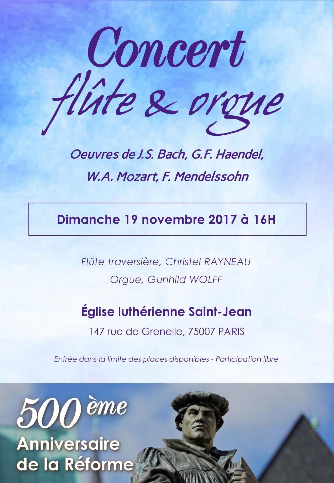 Concert orgue et flute 19 nov gunhild wolff christel rayneau